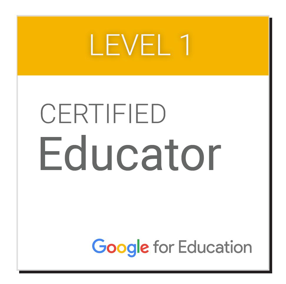 Ho superato l'esame di certificazione Google Certified Educator livello 1!