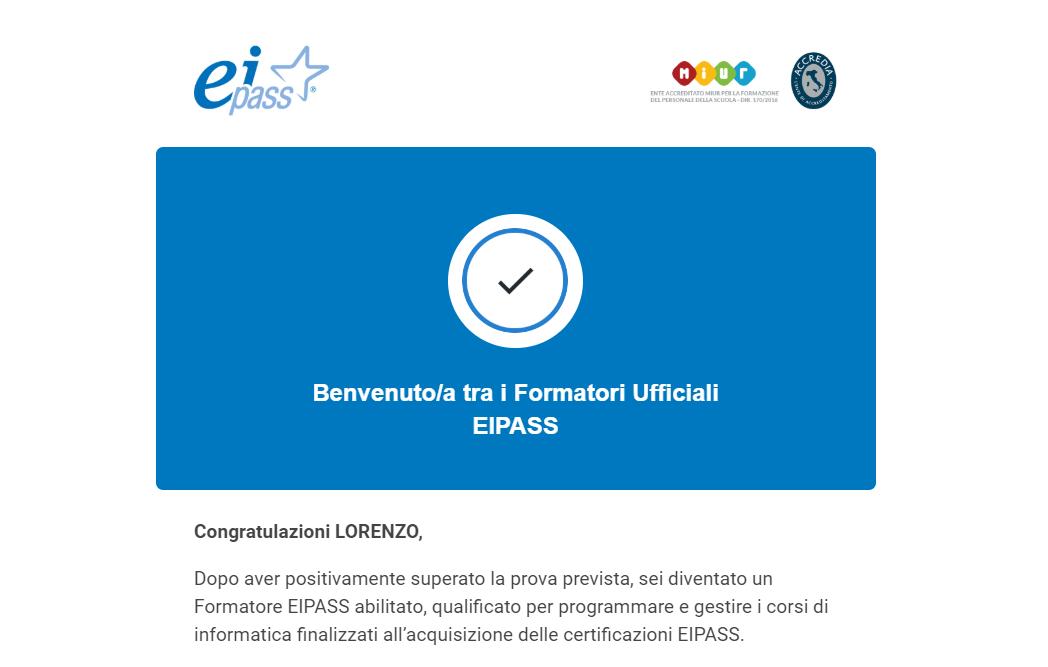 Formatore Certificato Eipass