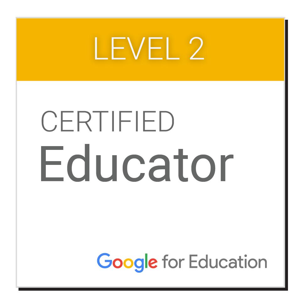 Google Certified Educator livello 2